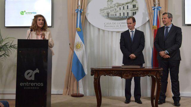 Primera medida. Romero asumió al mediodía y de inmediato viajó a Gualeguay.