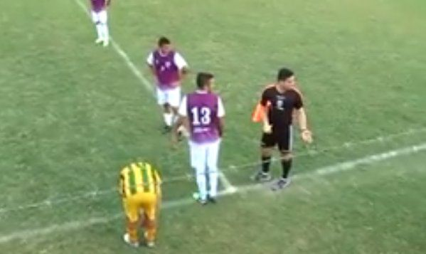 La expulsión más insólita del fútbol argentino