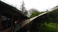 Tormentón. las ráfagas afectaron casas y galpones asentados al costado de la autovía.