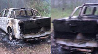Encapuchados robaron dinero, joyas y una camioneta, que a las pocas horas apareció incinerada