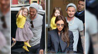 Crueles críticas a la hijita de los Beckham por una foto en malla