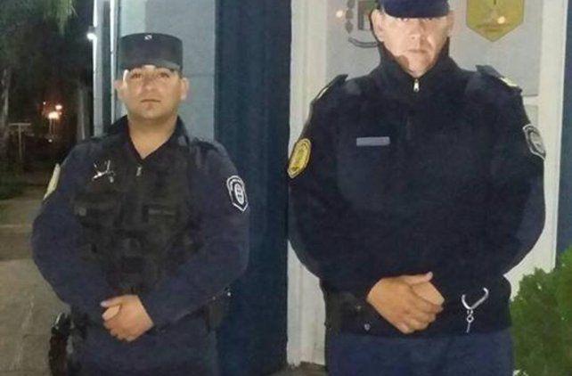 Los policias reconocidos por la Municipalidad de San Benito.