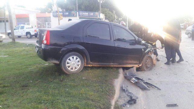 Triple choque y susto con daños importantes en los autos