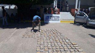 Detuvieron en Chaco a tres entrerrianos que llevaban más de 100 kilos de droga