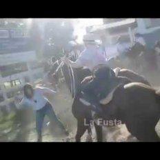 VIDEO: Dos damas se agarraron a fustazos en la Fiesta del Hombre de Campo