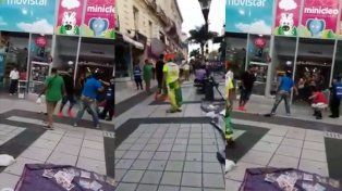 Paraná: Inició una pelea callejera pero tuvo un inconveniente y no pudo seguir