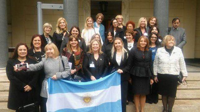 Delegación argentina. Las funcionarias judiciales