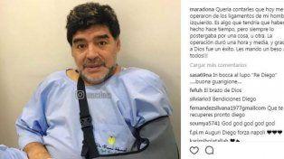 Maradona tuvo que pasar por el quirófano