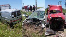 grave accidente en ruta 18: cuatro heridos tras choque entre tres vehiculos