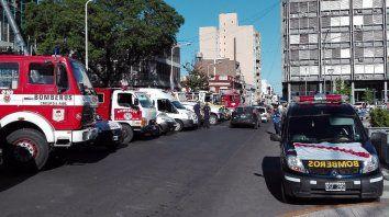 sirenazo. La ministra de Gobierno, Rosario Romero, calificó a la protesta de Bomberos como innecesaria