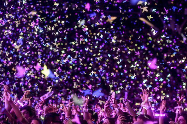 Coldplay, en La Plata, homenajeó a Cerati y a las víctimas de Nueva York