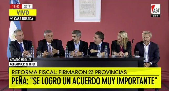 Veintitrés provincias adhirieron al Pacto Fiscal