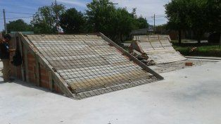 Calculan que en un mes estará listo el skatepark de Diamante