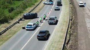 Llevaban más de 80 kilos de marihuana los detenidos tras accidente en Acceso Norte