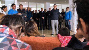 Macri visitó a los familiares de la tripulación del submarino ARA San Juan