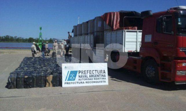 Santa Fe: Decomisaron un millonario cargamento de cigarrillos proveniente de Paraguay