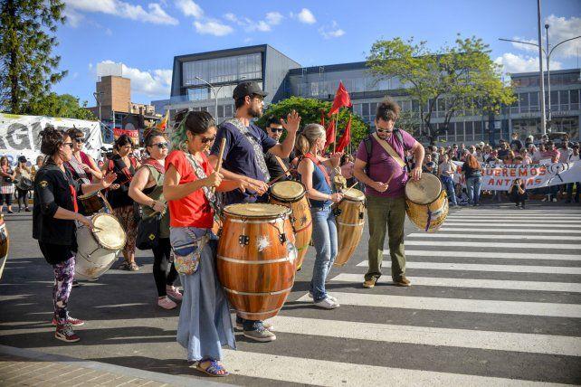 La unión de los tambores. FotoUNOMateo Oviedo.