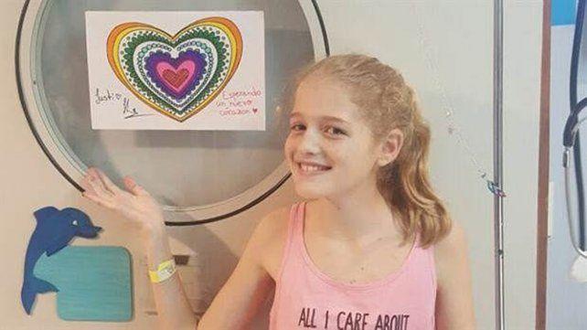 Luego de tres meses a la espera de un corazón, murió Justina