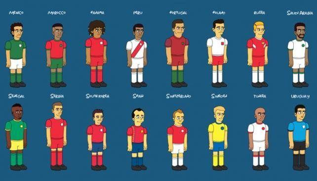 Los Simpsons y el fútbol: así serían los 32 equipos
