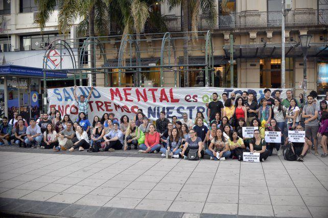 Colectivo. La Plaza 1° de Mayo fue el epicentro de un nuevo encuentro por la normativa Nº 26.657