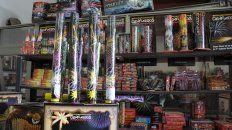 legales. Solo se permite la venta de fuegos de artificio que provocan luces sin ruidos.