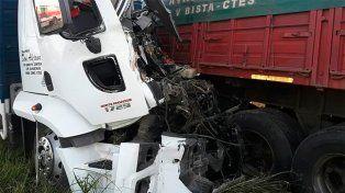 Ruta Nacional 12: Choque entre camiones terminó en tragedia