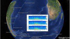 submarino ara san juan: difundieron frecuencia, hora y lugar de la explosion