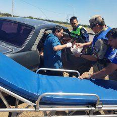 Al hospital. La ambulancia llegó y la parturienta fue derivada al nosocomio de Chajarí.