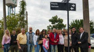 Una calle de Paraná lleva el nombre de Priscila Hartman