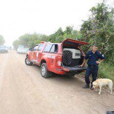 Todos los medios. Al hombre de 26 se lo buscó con perros, caballos y varios uniformados. Foto: Diego Arias
