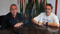 Representantes de Sionista. Gustavo y Daniel trabajan desde hace mucho tiempo en el fútbol independiente del club y siempre la meta es crecer.