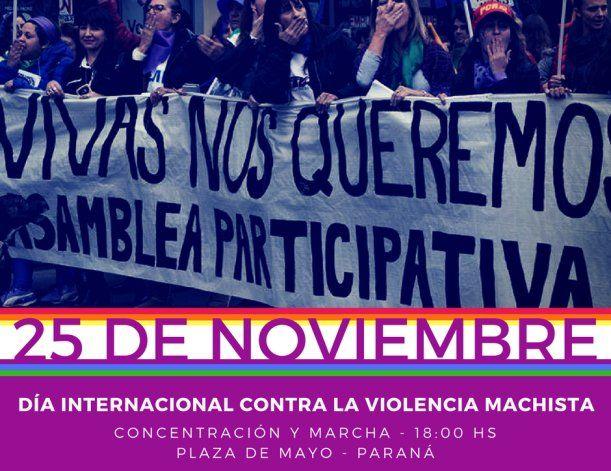 Este sábado en Paraná se marchará contra la violencia hacia la mujer