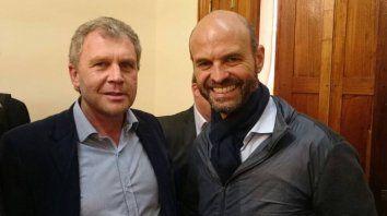 El intendente de Chajarí, Pedro Galimberti junto al Ministro de Transporte de la Nación, Guillermo Dietrich.