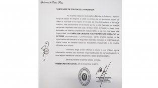 El Ministerio de Gobierno pidió explicaciones a la Policía por los incidentes en el Grella
