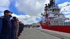 asi partia el buque sophie siem con el mini submarino a bordo hacia el area de busqueda del ara san juan