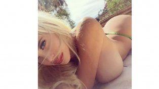 La foto en topless que Charlotte Caniggia eliminó de Instagram