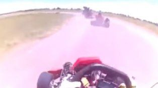 Impresionante vuelco de dos kartings en un circuito entrerriano