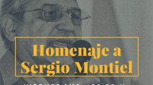Realizarán un homenaje a Sergio Montiel
