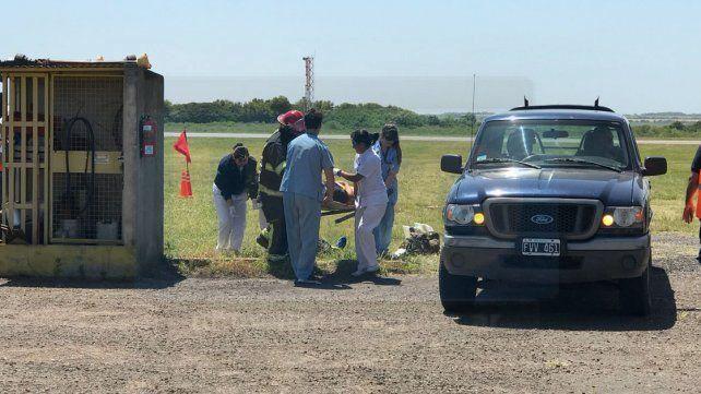 Simulacro de accidente aéreo en Paraná con dos personas fallecidas y cuatro lesionados
