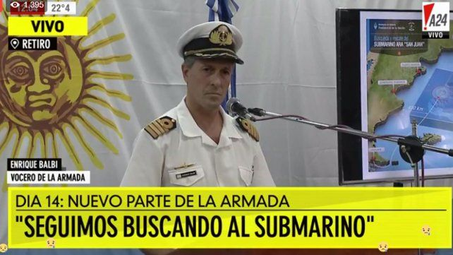 Se redefinió el área de búsqueda del submarino ARA San Juan