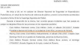 Para el Ministerio de Seguridad de la Nación Entre Ríos es una ciudad y Paraná una provincia