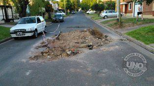 Un trabajo sin terminar, es un peligro en calle Palma
