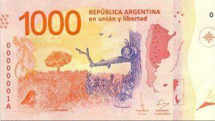 Así es el nuevo billete de mil pesos: las medidas para evitar las falsificaciones