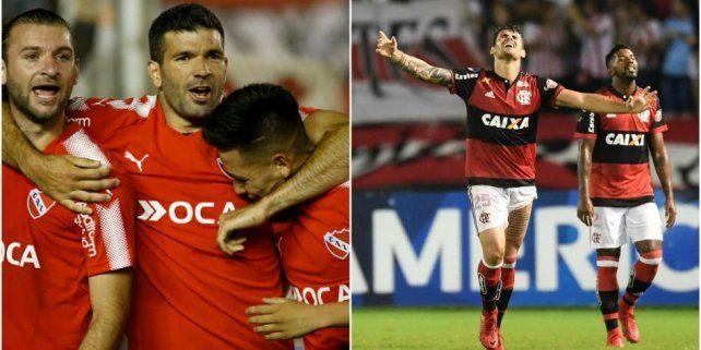 Los árbitros de la final entre Independiente y Flamengo