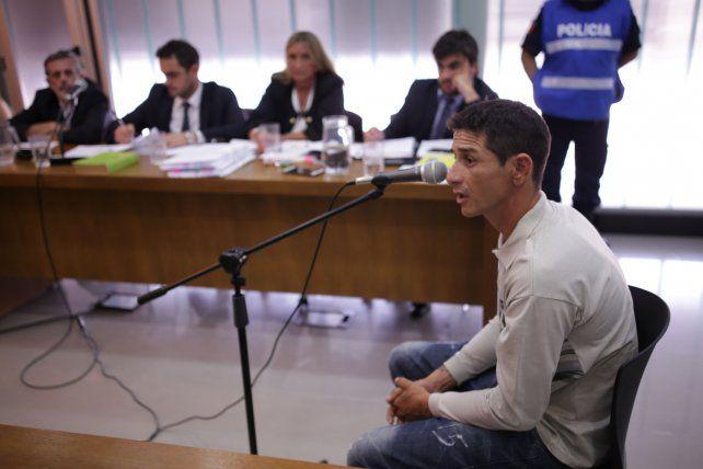 Acusado. Gutiérrez dio su versión de los hechos y trató de desligarse del caso que lo puede llevar a la cárcel.