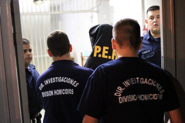 Uno de los detenidos por el asesinato. Foto UNO Juan Ignacio Pereira.