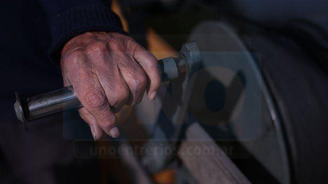 Don Caluncho y sus historias tras las vueltas del malacate