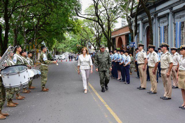 Rosario Romero en el acto que se realizó sobre Alameda de la Federación. Foto Prensa Gobernación de Entre Ríos.