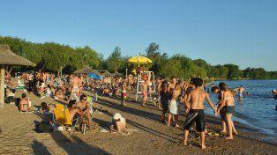 Foto de la playa de Gualeguaychú. Foto Archivo UNO. Juan Manuel Hernández.