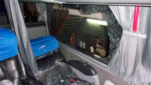 Pasajera resultó herida tras ataque a piedrazos contra un ómnibus en Ruta 168